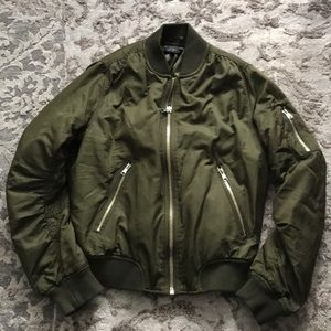 *Topshop* Green Bomber Jacket